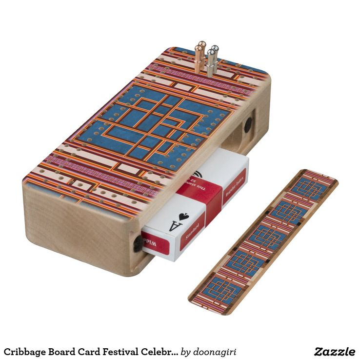 Cribbage Board Card Festival Celebration Graphics Maple Cribbage Board