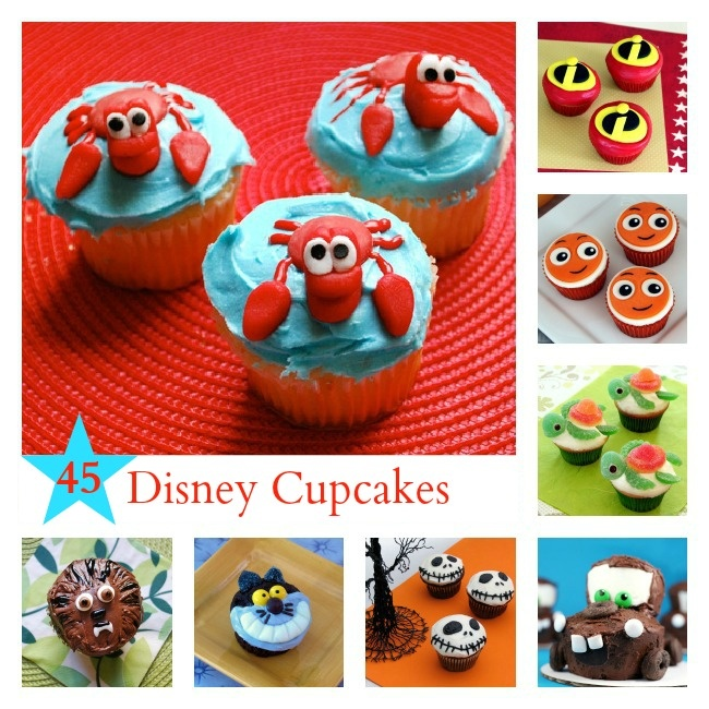 Satisfy your sweet tooth with any one of these Disney-inspired cupcake recipes! #Disney