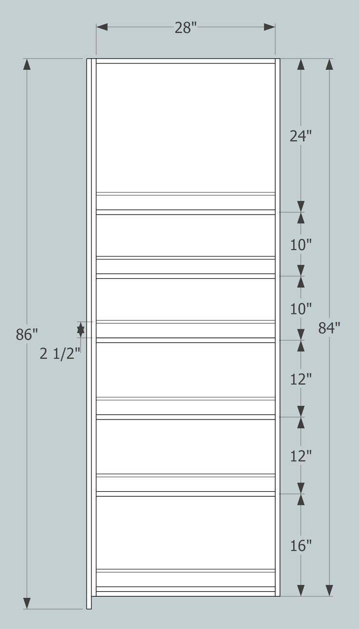 pantry shelf dimensions - Google Search