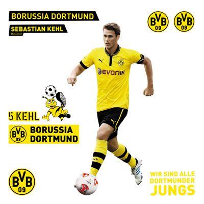 Wall-Decal-Borussia-Dortmund-Sebastian-Kehl-Set-Wall-BVB-Football-Club-Fan