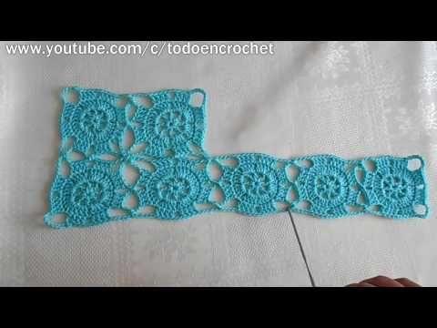 Como hacer Granny square en crochet - cuadros, ideal para vestido, chaleco, mantel, crochet viral - YouTube