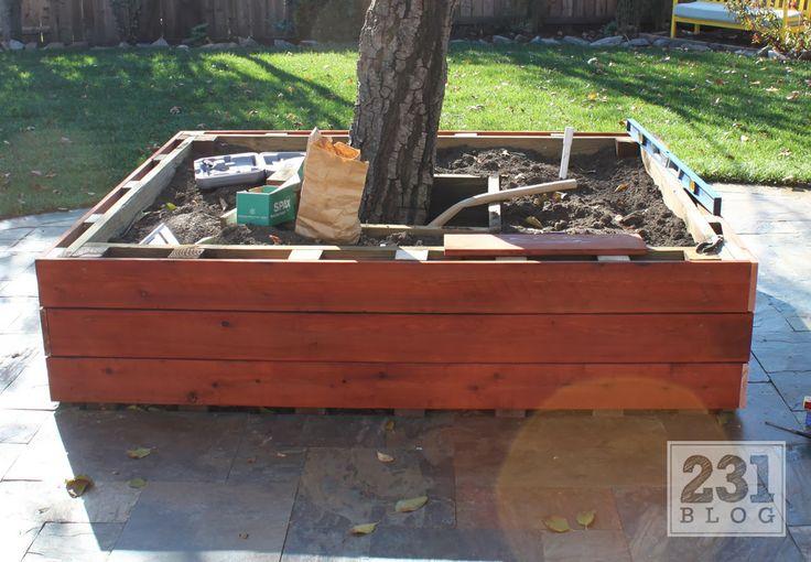 Tree Planter Box Planter Box With Seating