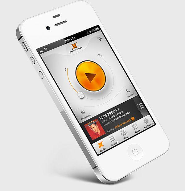 Radio Expres #iOS #app by Martin Schurdak, via #Behance #Mobile