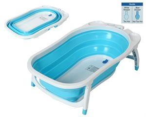 La Bañera Kiokids Karibu plegable es una novedosa bañera bebé que se pliega hasta hacerse plana. Válida para varias edades por su manera de adaptar la profundidad.