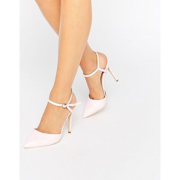 Public Desire Karlie Cut Out Court Shoes (€44) ❤ liked on Polyvore featuring