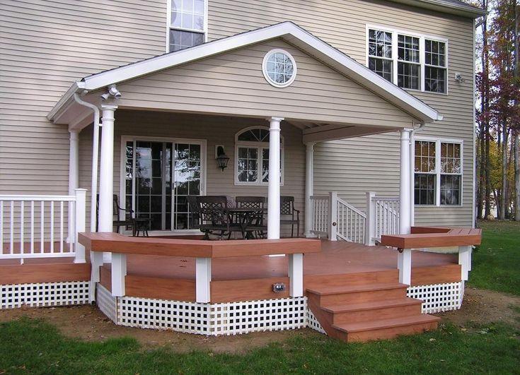 Дизайн крыльца загородного дома фото