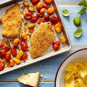 Combine the simplicity of a sheet pan dinner with the classic comfort of chicken Parmesan in this simple weeknight recipe. Clever use of...