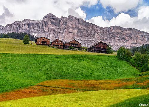 ITALIAN ALPS, Badia - San Leonardo - Sullo sfondo il monte Cavallo 2911 m - Sasso Croce (Ciaval - Sas dla Crusc) | Flickr - Photo Sharing!