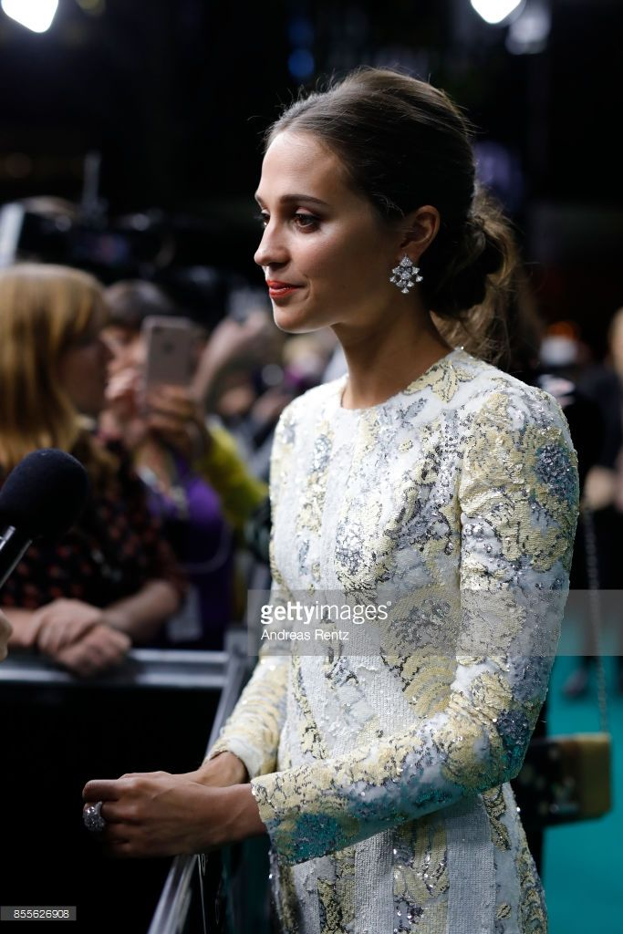 Alicia Vikander gives interviews as she attends the 'Euphoria' premiere during the 13th Zurich Film Festival on September 29, 2017 in Zurich, Switzerland. The Zurich Film Festival 2017 will take place from September 28 until October 8.