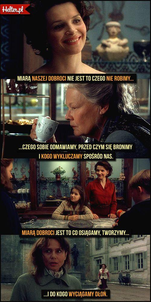 #czekolada #mądre #cytaty #film #kino #cytatyfilmowe #popolsku #helter #polskie