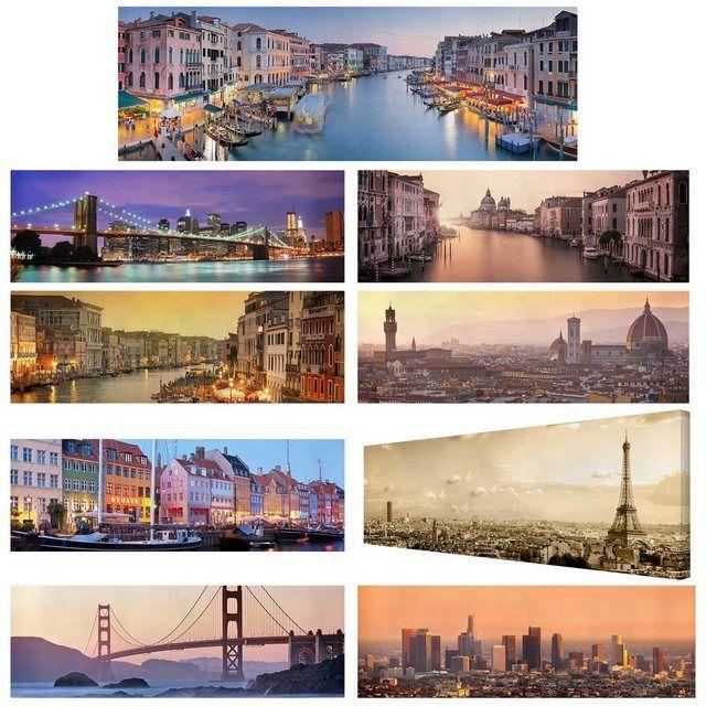 Leinwandbild Panorama »Top Städte International auf Leinwand« – Products