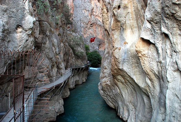 Saklikent Canyon, private yacht charter, www.barbarosyachting.com