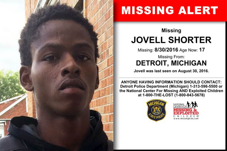 JOVELL SHORTER, Age Now: 17, Missing: 08/30/2016. Missing From DETROIT, MI. ANYONE HAVING INFORMATION SHOULD CONTACT: Detroit Police Department (Michigan) 1-313-596-5500.