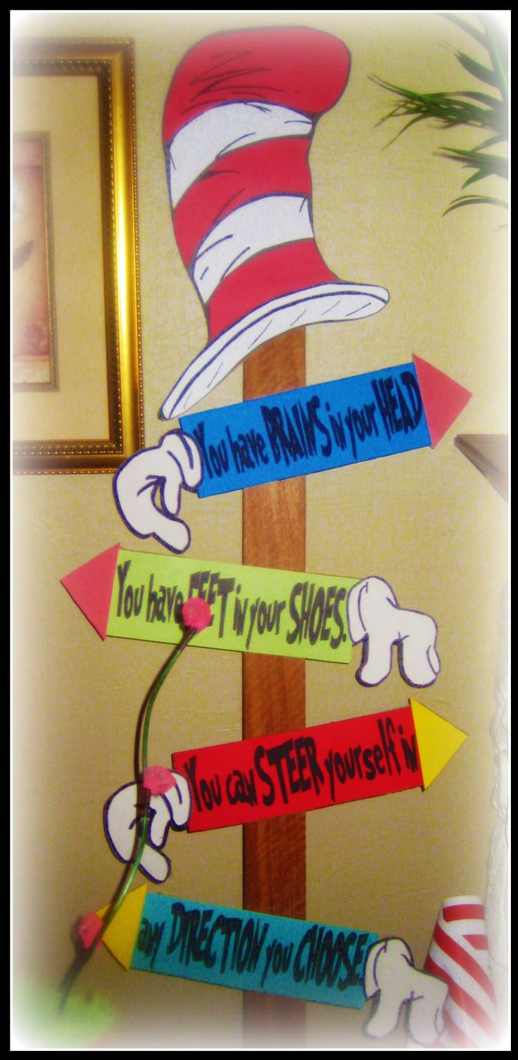 Direction Sign Dr Seuss Whoville Baby Shower