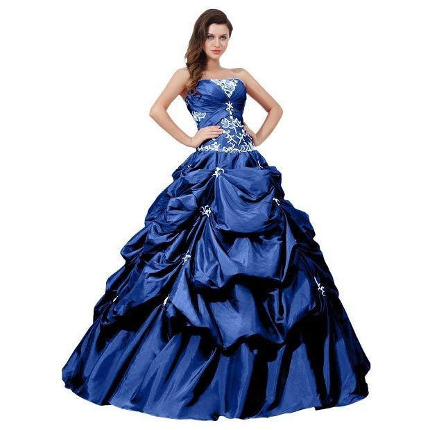 Popular Plus Size Gothic Wedding Gowns Buy Cheap Plus Size: ... Blue Princess Ball Gown Dresses