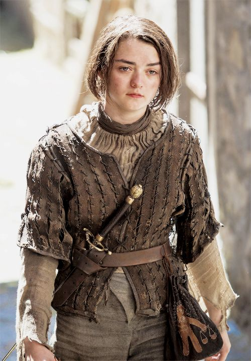 Arya Stark in Season 5, Episode 2 - The House of Black and White