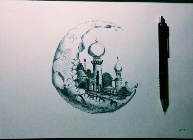 #sketch #illustration #black #moon