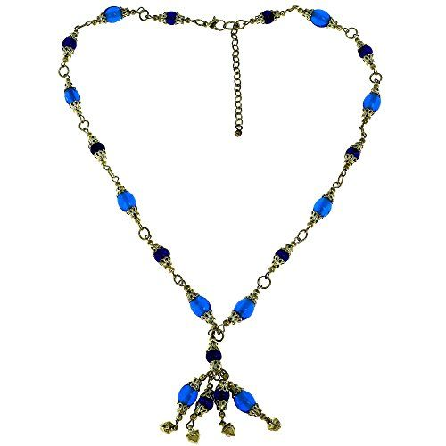 Blue and Golden Designer Fashion Necklace Indian Jewellery ShalinIndia http://www.amazon.in/dp/B00NM4XPRG/ref=cm_sw_r_pi_dp_pcbGvb1JWZHA0