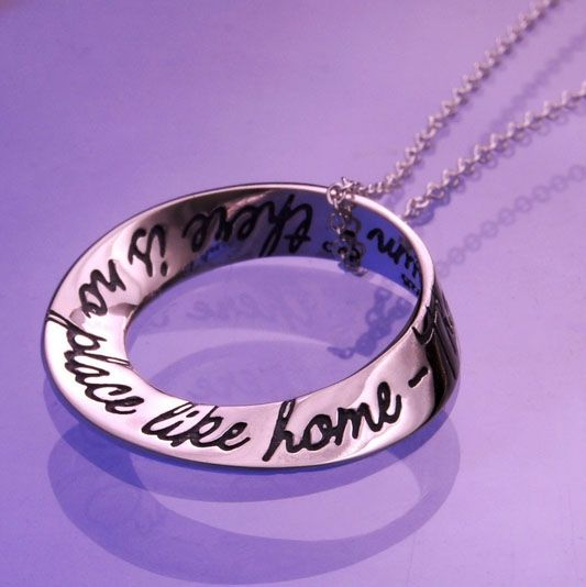 """No Place Like Home Necklace - From The Wonderful Wizard of Oz by L. Frank Baum, comes this beloved quotation """"There is no place like home."""""""