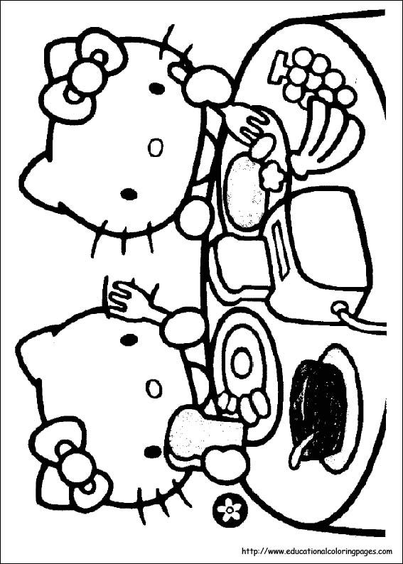 77 Best Coloriages Images Hello Kitty Images On Pinterest