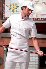 PAGAMENTO ANCHE ALLA CONSEGNA Camicia Uomo Tricolore Cuoco Chef lavoro Ristorante Cucina Abbigliamento Abiti
