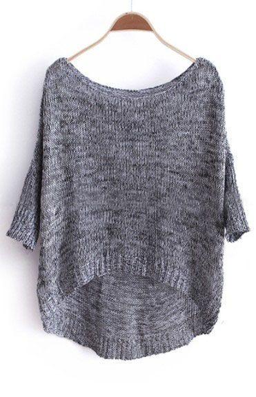 {3/4 sleeve oversized sweater}