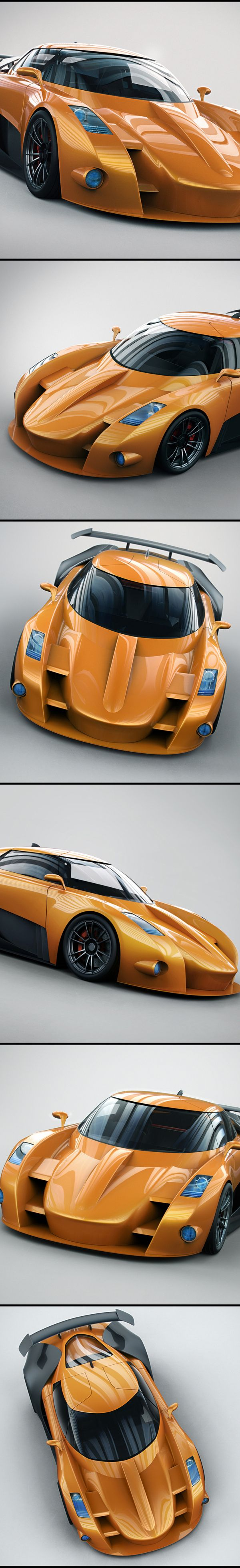 Concept Car Digital Illustration - Awesome Designs!