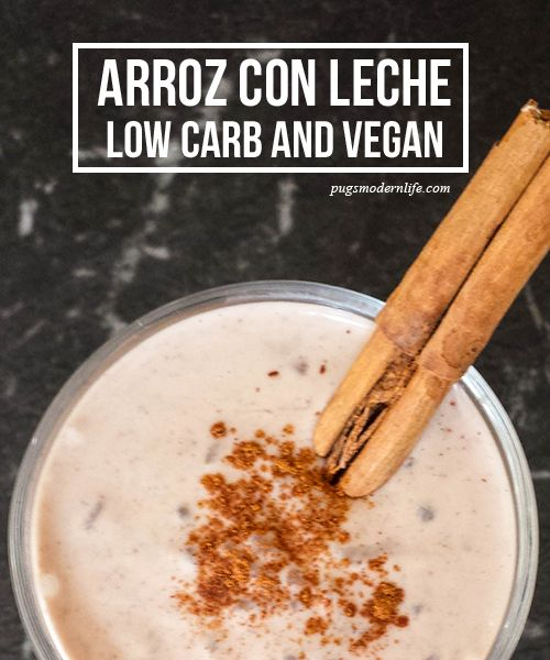 Arroz con leche (with neither rice nor milk)