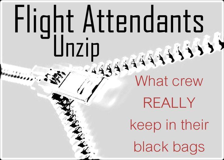 Flight Attendants Unzip: What's really inside a flight attendant's carry on