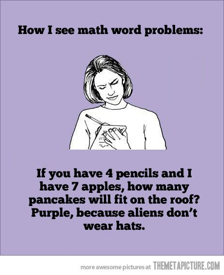 Math. Not for all of us…  So very very true.