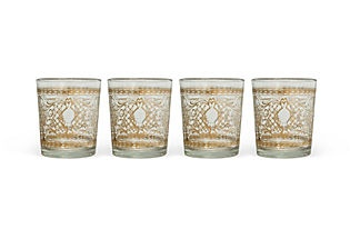 One Kings Lane - Etched Votive Holders, Set of 4