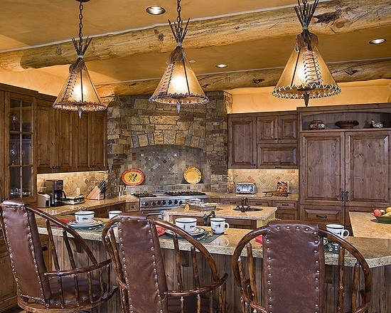 Check out the lights rustic western kitchen dining for American style home decoration