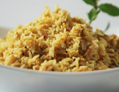 Erra Sadam Recipe - The exotic combination of prawns and fennel turns leftover rice into a feast.