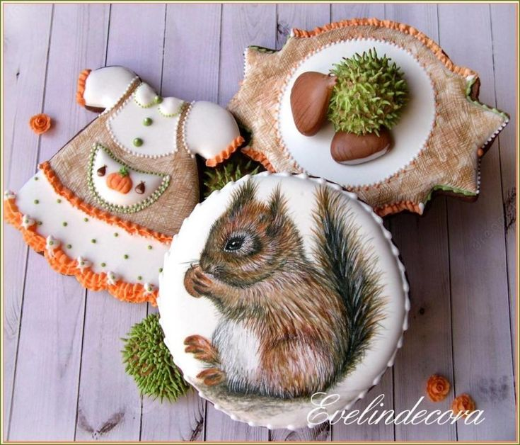 Autumn cookies - squirrel by Evelindecora