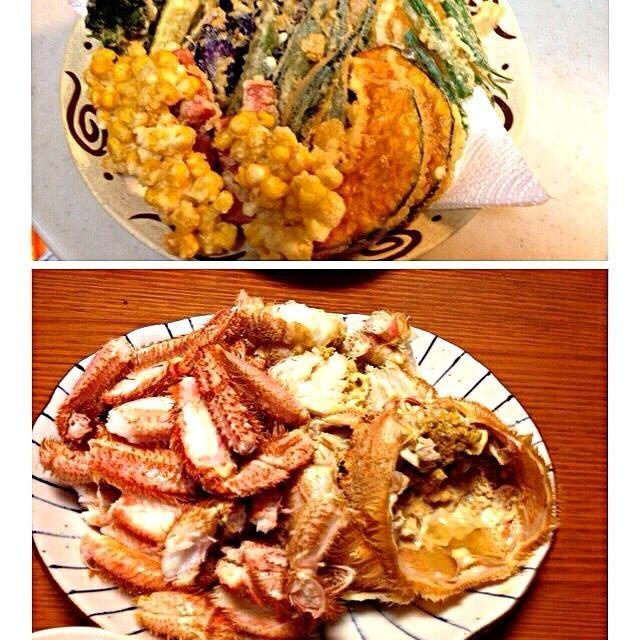 毛ガニをいただいたので、今日は野菜ばかりの天ぷらで! てか、お野菜が美味い(o^^o)ノ  *毛ガニ *天ぷら        新玉ねぎ  コーン  茄子  オクラ  ブロ    ッコリー  いんげん  かぼちゃ  椎茸  焼売   ポールウインナー - 74件のもぐもぐ - 毛ガニ  野菜の天ぷら♪ by kamasann
