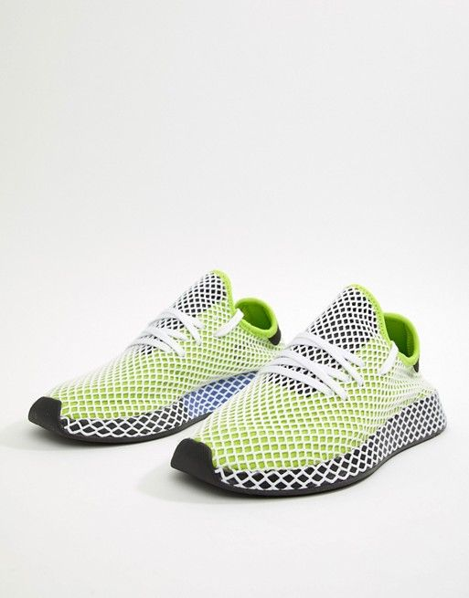 a0d10ecb125 adidas Originals Deerupt Runner Sneakers In Green B27779