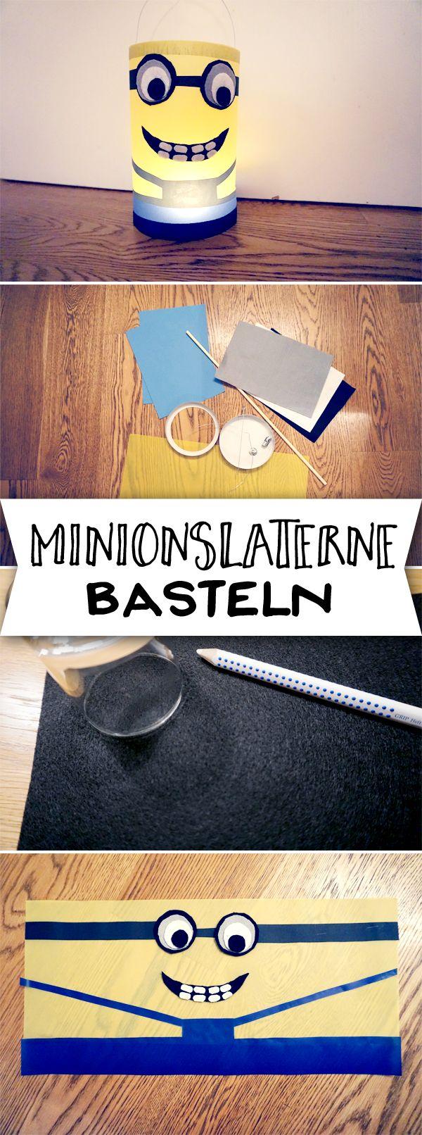 Die Minions dürfen mit zum Laternenumzug! Hier gibt's die Bastelanleitung.