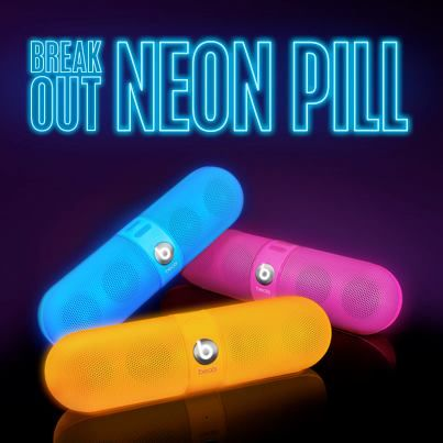 beats pill in NEON --- NEON I tell you