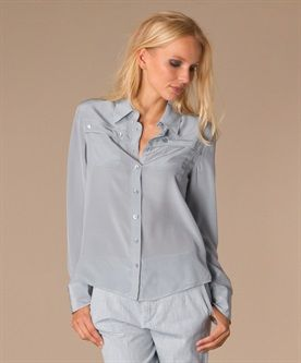 See By Chloé Zijden Blouse - Azure