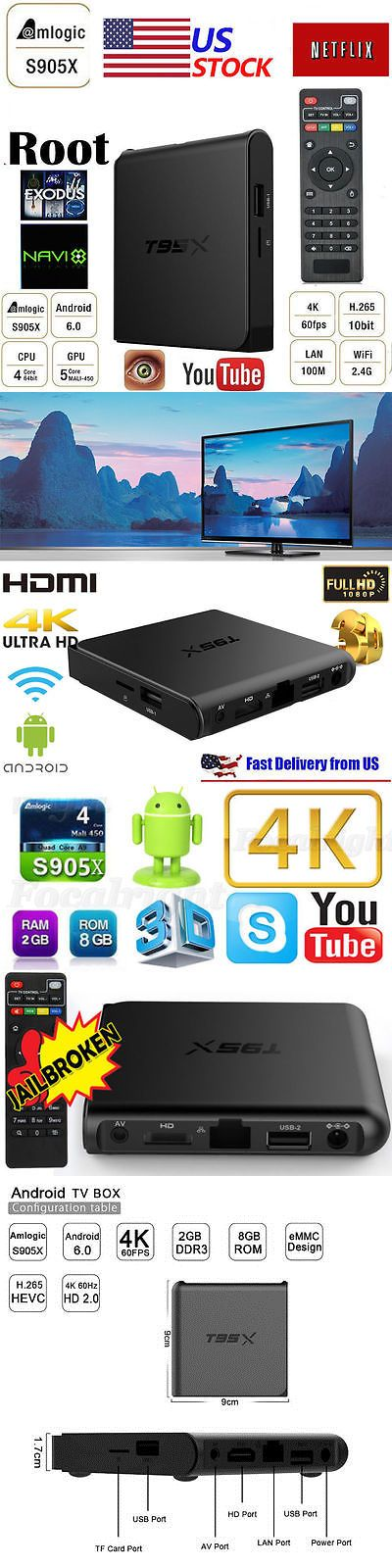 Home Audio: 2017 S905x 4K 2Gb+8Gb T95x Smart Android Tv Box Quad Core Fully Loaded Wifi Top -> BUY IT NOW ONLY: $40.08 on eBay!