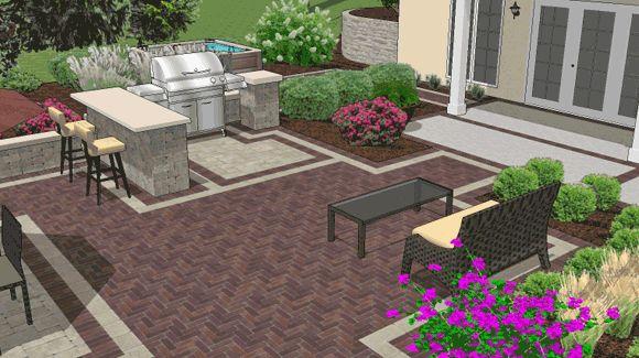 Backyard Grill Ideas :  Ideas likewise Outdoor Covered Grill Patio on backyard covered patio