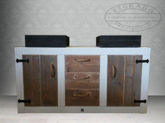1000 images about landelijke badkamermeubelen on pinterest posts met and frames - Landelijke badkamer meubels ...
