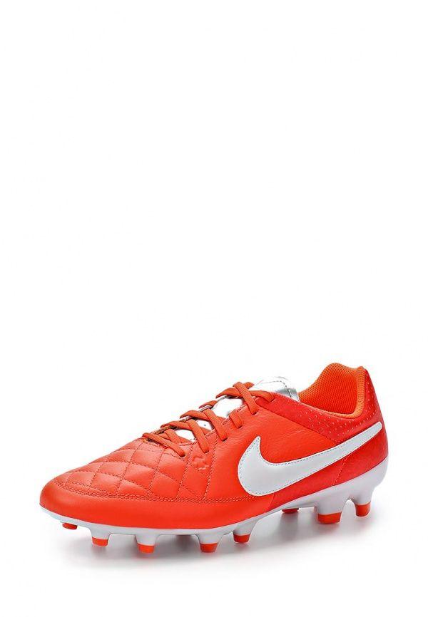 Бутсы Nike / Найк Цвет: оранжевый. Материал: искусственная кожа, натуральная кожа. Сезон: Весна-лето 2014. С бесплатной доставкой и примеркой на Lamoda. http://j.mp/1nJnyFJ