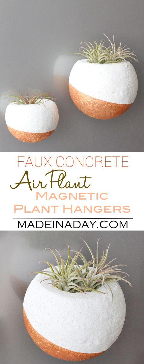 Faux Concrete Magnetic Air Plant Hanger air