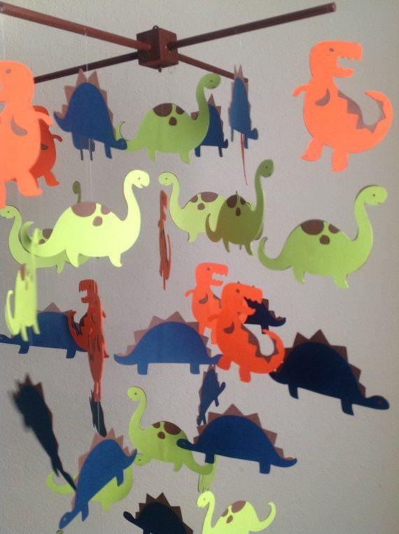 Dinosaur Mobile Dino Mobile Dino Toddler Room by MadeByKatee