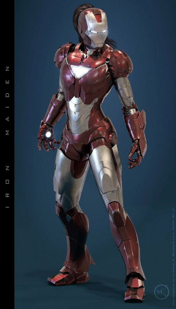 Super cool! Not sure if this is a real life costume or computer generated, either way, it's fantastic! Stark should make one for Potts!   #renratsguide #ironman #ironmaiden