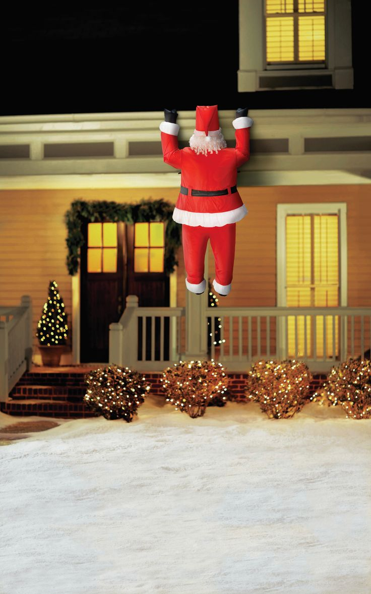 Santa Claus is coming to town! Use this quirky outdoor inflatable to light up your home with the Christmas spirit.
