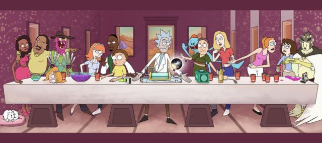 Rick And Morty TV Animation Fabric Art Cloth Poster 55inch x 24inch Decor 25