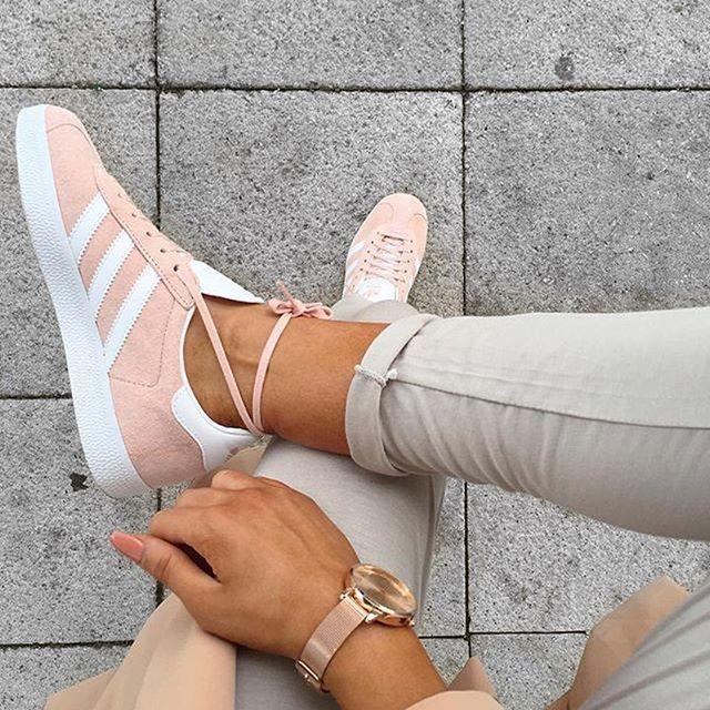 gazelle adidas originals en rose clair