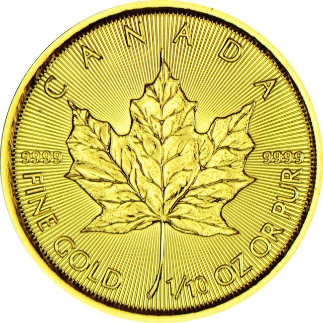 Maple Leaf 1/10 Unze Gold 2015,  9999/10000 Gold